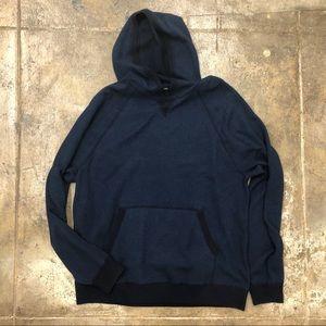 Vince Sweatshirt Hoodie Blue Black Kangaroo Pocket